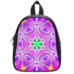 Kaleido Art, Pink Fractal School Bags (small)  by MoreColorsinLife