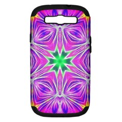 Kaleido Art, Pink Fractal Samsung Galaxy S Iii Hardshell Case (pc+silicone) by MoreColorsinLife
