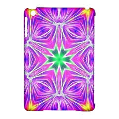 Kaleido Art, Pink Fractal Apple iPad Mini Hardshell Case (Compatible with Smart Cover) by MoreColorsinLife