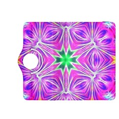 Kaleido Art, Pink Fractal Kindle Fire HDX 8.9  Flip 360 Case by MoreColorsinLife
