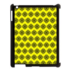 Abstract Knot Geometric Tile Pattern Apple Ipad 3/4 Case (black) by creativemom