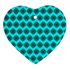 Abstract Knot Geometric Tile Pattern Ornament (heart)  by creativemom