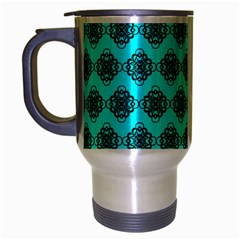 Abstract Knot Geometric Tile Pattern Travel Mug (silver Gray) by creativemom