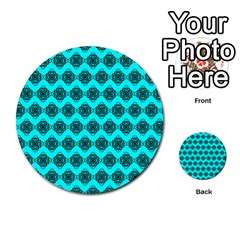 Abstract Knot Geometric Tile Pattern Multi Purpose Cards (round)
