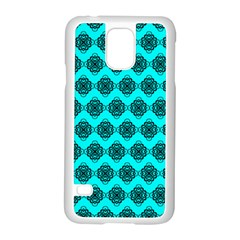 Abstract Knot Geometric Tile Pattern Samsung Galaxy S5 Case (white) by creativemom