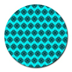 Abstract Knot Geometric Tile Pattern Round Mousepads by creativemom