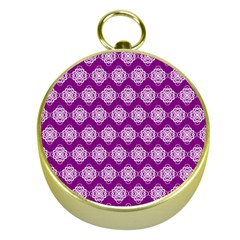 Abstract Knot Geometric Tile Pattern Gold Compasses by creativemom