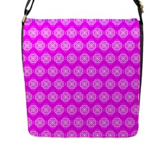 Abstract Knot Geometric Tile Pattern Flap Messenger Bag (l)  by creativemom