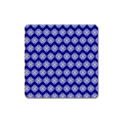 Abstract Knot Geometric Tile Pattern Square Magnet by creativemom