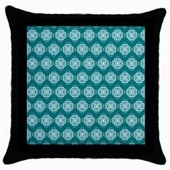 Abstract Knot Geometric Tile Pattern Throw Pillow Cases (black) by creativemom