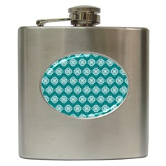 Abstract Knot Geometric Tile Pattern Hip Flask (6 Oz) by creativemom