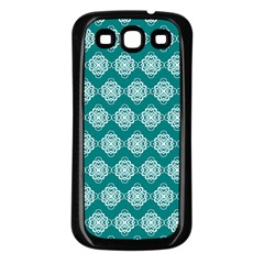 Abstract Knot Geometric Tile Pattern Samsung Galaxy S3 Back Case (black) by creativemom