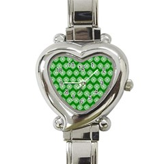 Abstract Knot Geometric Tile Pattern Heart Italian Charm Watch by creativemom