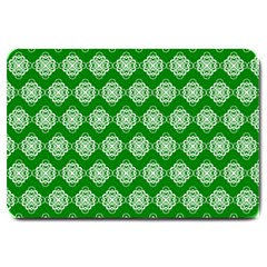 Abstract Knot Geometric Tile Pattern Large Doormat  by creativemom