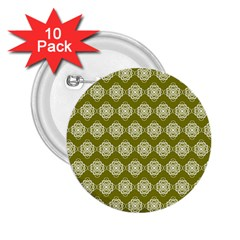 Abstract Knot Geometric Tile Pattern 2 25  Buttons (10 Pack)  by creativemom