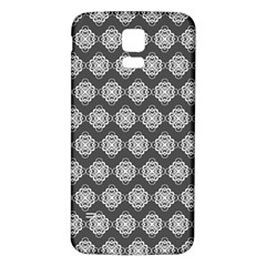 Abstract Knot Geometric Tile Pattern Samsung Galaxy S5 Back Case (White) by creativemom
