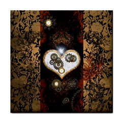 Steampunk, Awesome Heart With Clocks And Gears Tile Coasters by FantasyWorld7