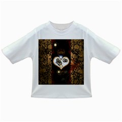 Steampunk, Awesome Heart With Clocks And Gears Infant/toddler T Shirts by FantasyWorld7