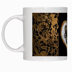 Steampunk, Awesome Heart With Clocks And Gears White Mugs by FantasyWorld7