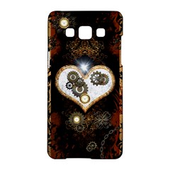 Steampunk, Awesome Heart With Clocks And Gears Samsung Galaxy A5 Hardshell Case  by FantasyWorld7