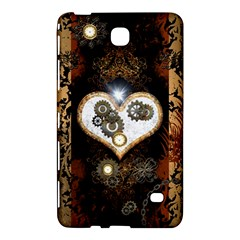 Steampunk, Awesome Heart With Clocks And Gears Samsung Galaxy Tab 4 (8 ) Hardshell Case  by FantasyWorld7