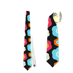Colorful Floral Pattern Neckties (one Side)  by creativemom