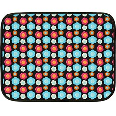Colorful Floral Pattern Double Sided Fleece Blanket (mini)  by creativemom