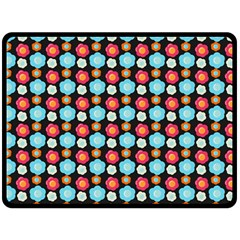 Colorful Floral Pattern Fleece Blanket (large)  by creativemom
