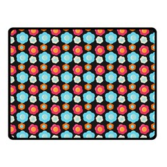 Colorful Floral Pattern Fleece Blanket (small) by creativemom
