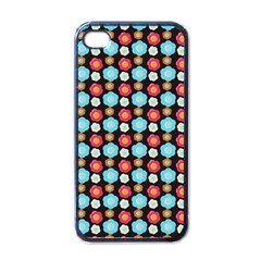 Colorful Floral Pattern Apple Iphone 4 Case (black) by creativemom