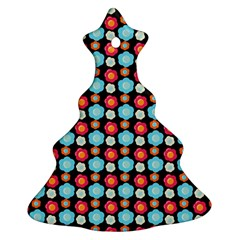 Colorful Floral Pattern Ornament (christmas Tree) by creativemom