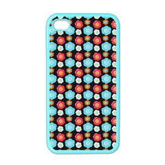 Colorful Floral Pattern Apple Iphone 4 Case (color) by creativemom