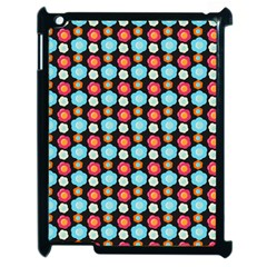 Colorful Floral Pattern Apple iPad 2 Case (Black) by creativemom