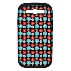 Colorful Floral Pattern Samsung Galaxy S Iii Hardshell Case (pc+silicone) by creativemom