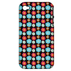 Colorful Floral Pattern Apple Iphone 4/4s Hardshell Case (pc+silicone) by creativemom