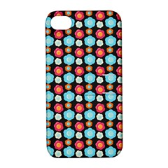 Colorful Floral Pattern Apple Iphone 4/4s Hardshell Case With Stand by creativemom