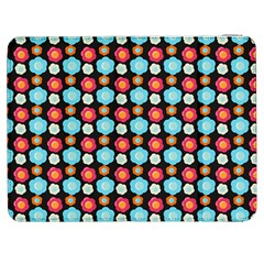 Colorful Floral Pattern Samsung Galaxy Tab 7  P1000 Flip Case by creativemom