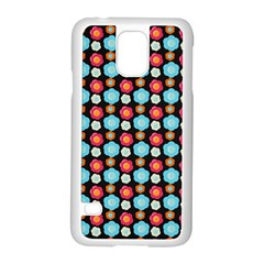 Colorful Floral Pattern Samsung Galaxy S5 Case (white) by creativemom