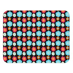 Colorful Floral Pattern Double Sided Flano Blanket (large)  by creativemom