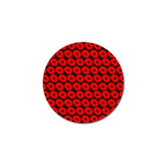 Charcoal And Red Peony Flower Pattern Golf Ball Marker (4 Pack) by creativemom