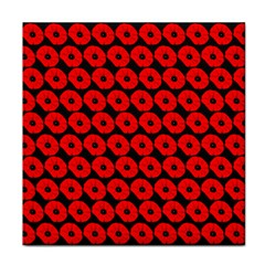 Charcoal And Red Peony Flower Pattern Face Towel by creativemom