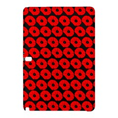 Charcoal And Red Peony Flower Pattern Samsung Galaxy Tab Pro 12 2 Hardshell Case by creativemom