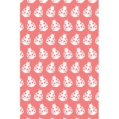 Coral And White Lady Bug Pattern 5 5  X 8 5  Notebooks by creativemom