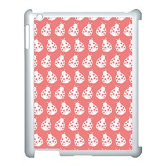 Coral And White Lady Bug Pattern Apple Ipad 3/4 Case (white) by creativemom