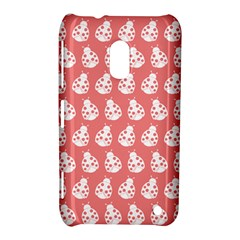 Coral And White Lady Bug Pattern Nokia Lumia 620 by creativemom