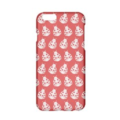 Coral And White Lady Bug Pattern Apple Iphone 6/6s Hardshell Case by creativemom