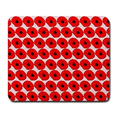 Red Peony Flower Pattern Large Mousepads by creativemom
