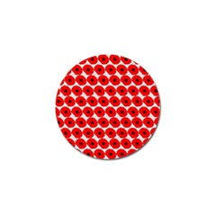 Red Peony Flower Pattern Golf Ball Marker (4 Pack) by creativemom