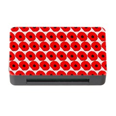Red Peony Flower Pattern Memory Card Reader With Cf by creativemom