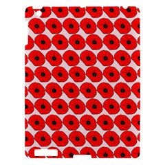 Red Peony Flower Pattern Apple Ipad 3/4 Hardshell Case by creativemom